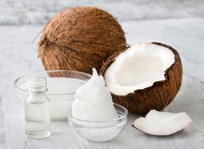 Kokosöl, Kokosmilch und Kokosnuß